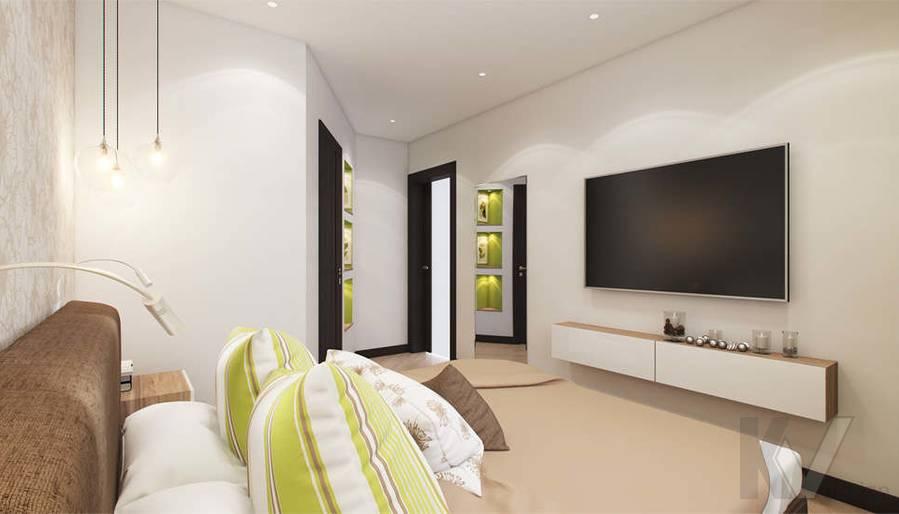 дизайн спальни в квартире П-3М, Владыкино - 3