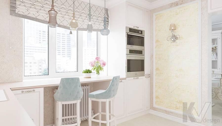 Дизайн кухни в квартире серии П-3, м. Братиславская - 2