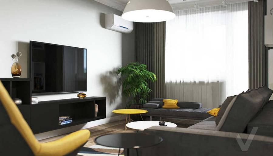 Дизайн гостиной в двухкомнатной квартире, Сходненская - 2