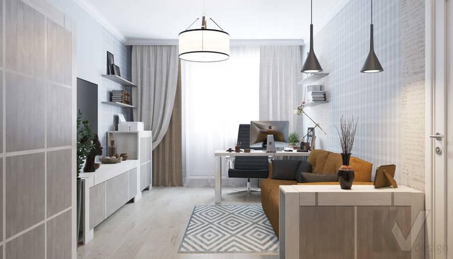 Дизайн кабинета в квартире П-3М на Профсоюзной - 3