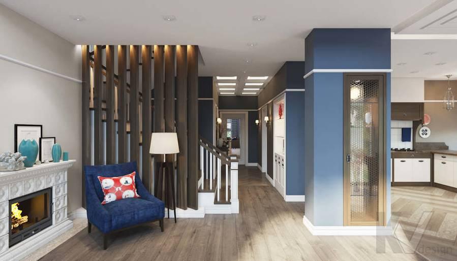 Дизайн гостиной в коттедже, КП «Vita Verde» - 7