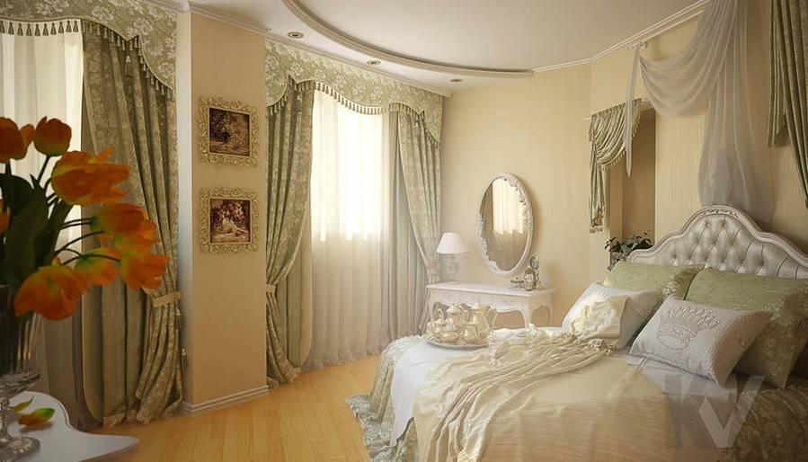 Дизайн квартиры на м. Смоленская, спальня - 1
