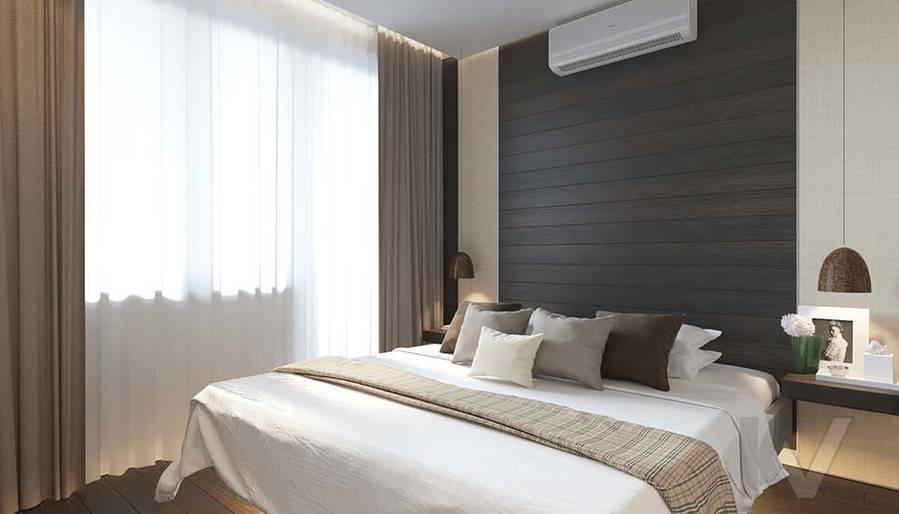Дизайн спальни в 2-комнатной квартире П-44Т, Московский - 1