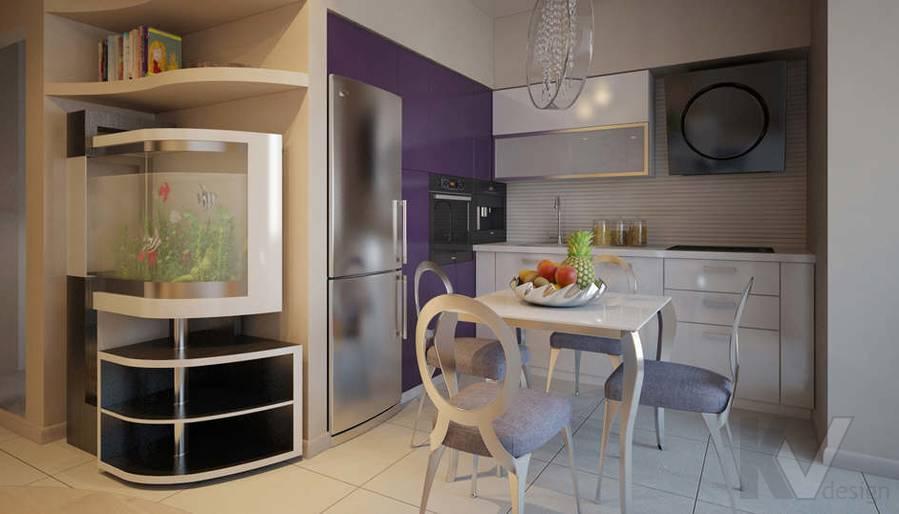 Дизайн кухни двухкомнатной квартиры - 1