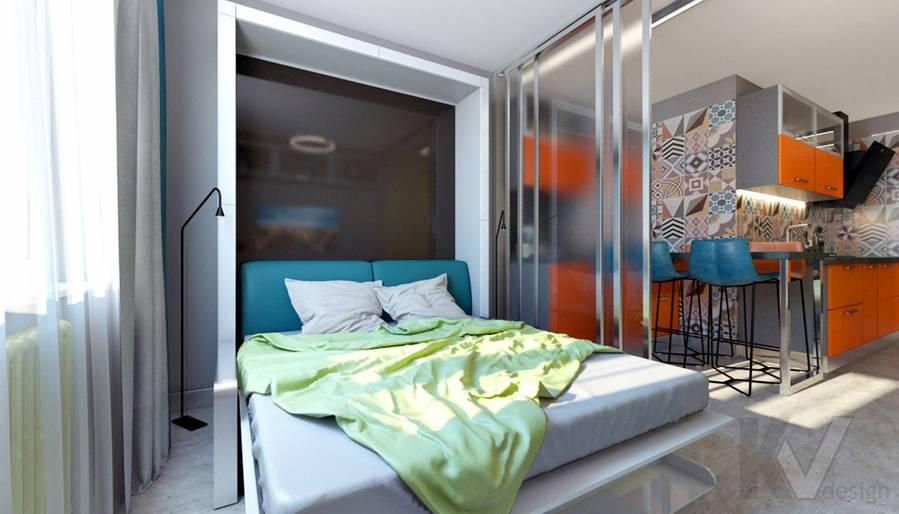 Гостиная-спальня в 2-комнатной квартире П-111М, Тропарево - 2