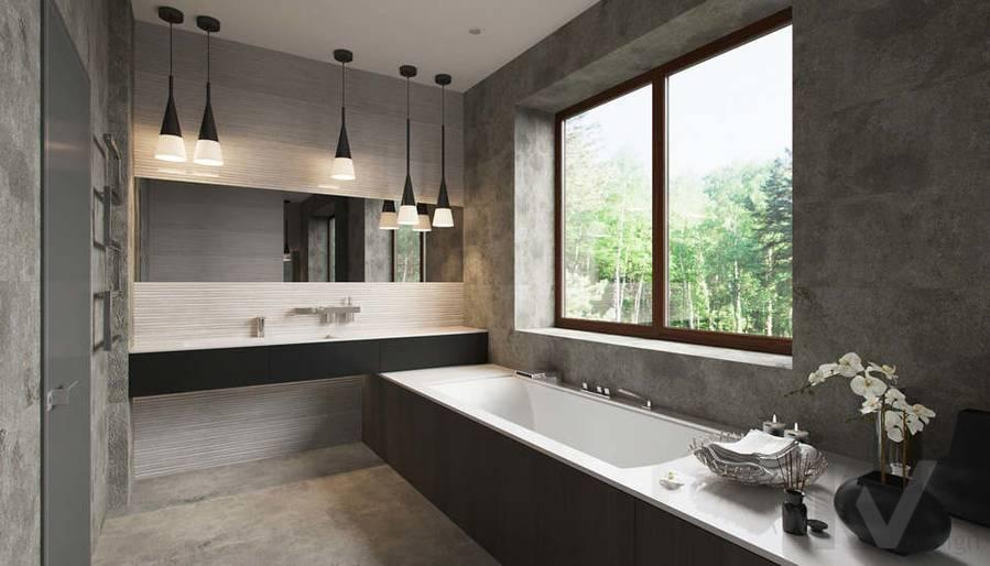 """Дизайн ванной в доме,  КП """"Западная Долина"""" - 1"""