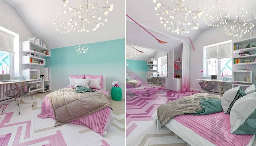Дизайн комнаты девочки в доме, КП Пестово - 2