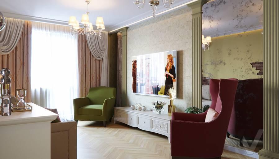 Дизайн гостиной в квартире серии П-3, Ясенево - 3