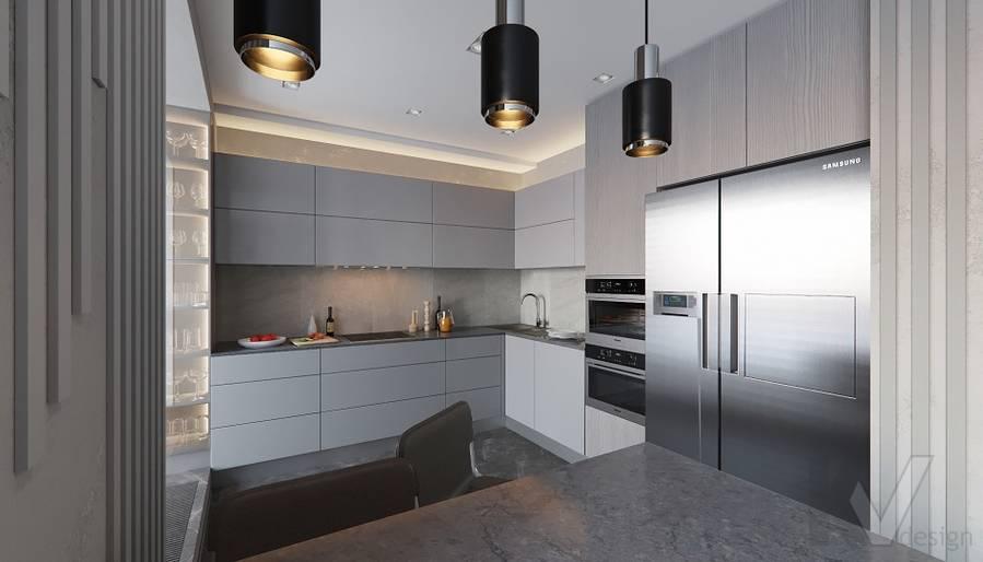 Кухня в проекте объединения квартир, Мытищи - 1