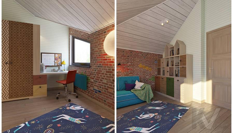 Дизайн детской мальчика в трехэтажном доме - 4