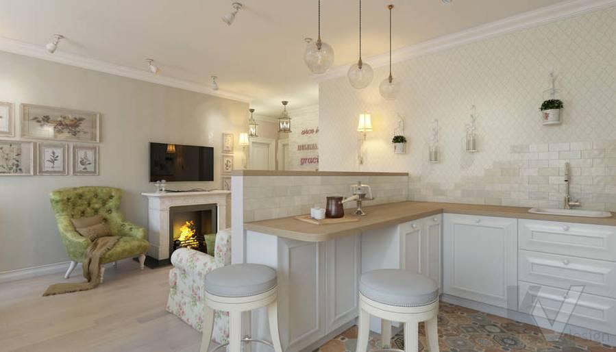 дизайн кухни в 3-комнатной квартире, Новая Москва - 3