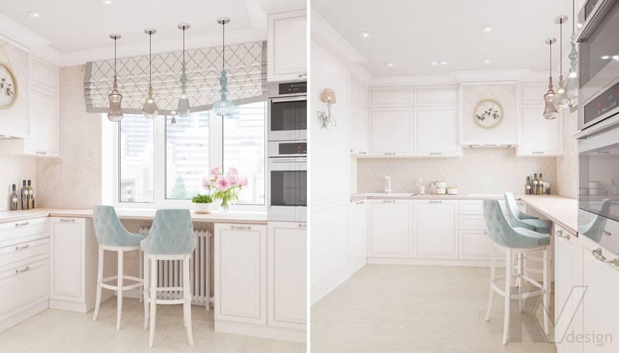 Дизайн кухни в квартире серии П-3, м. Братиславская - 4
