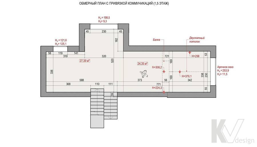 Планировка промежуточного этажа в коттедже, КП «Vita Verde»