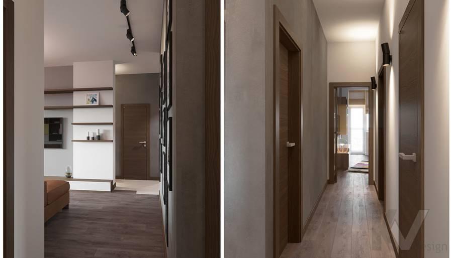 Дизайн коридора в ЖК «На Циолковского» - 2