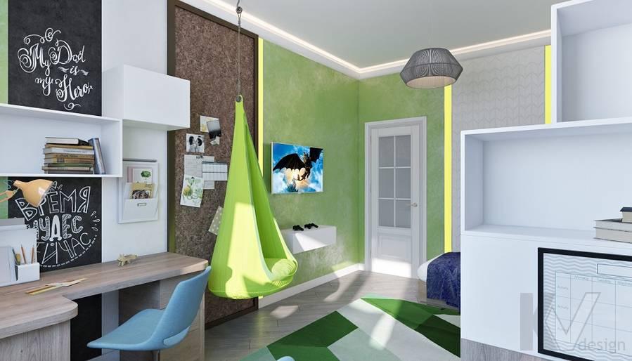 дизайн детской мальчика в 3-комнатной сталинке, ВДНХ - 3