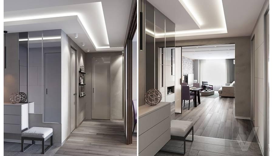 Прихожая в проекте объединения квартир, Мытищи - 2