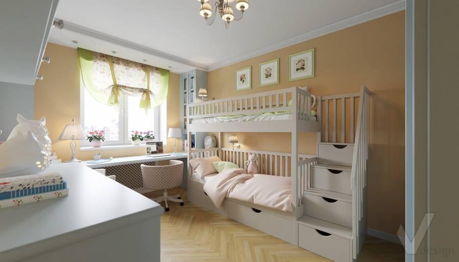 Дизайн детской в квартире серии П-3, Ясенево - 1