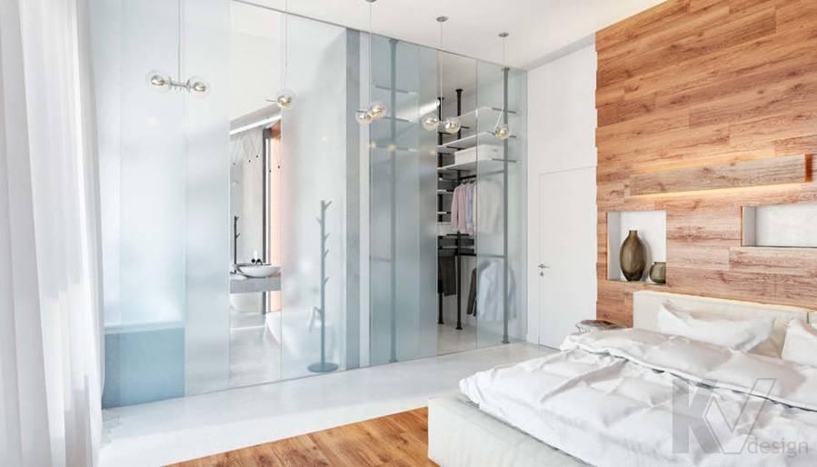 Дизайн спальни родителей в доме, КП Пестово - 4