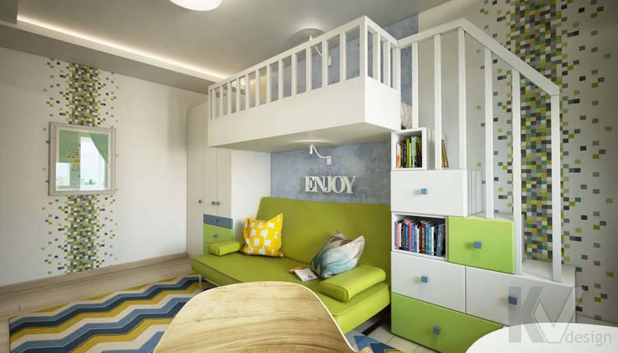 дизайн комнаты старшего ребенка серии П-3, Новое Ясенево - 3