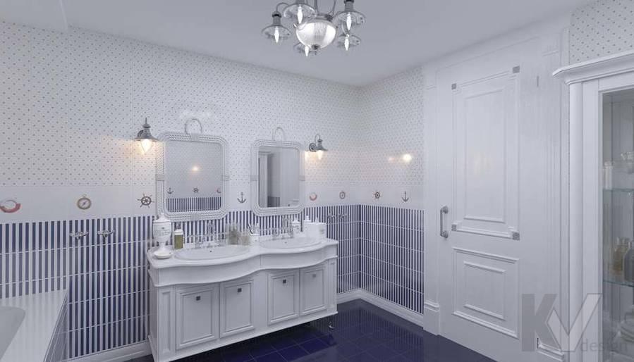 Дизайн детской ванной в доме, КП «Парк Авеню» - 4