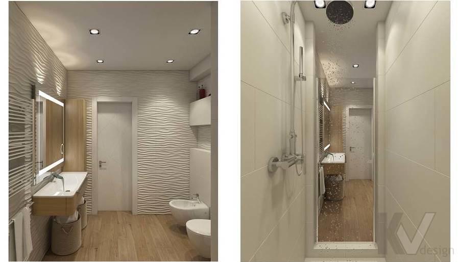 Дизайн ванной в 2-комнатной квартире в Мытищах - 3