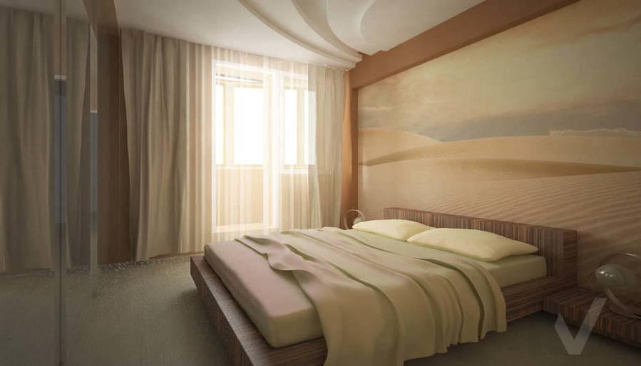 Дизайн квартиры в Красногорске, спальня