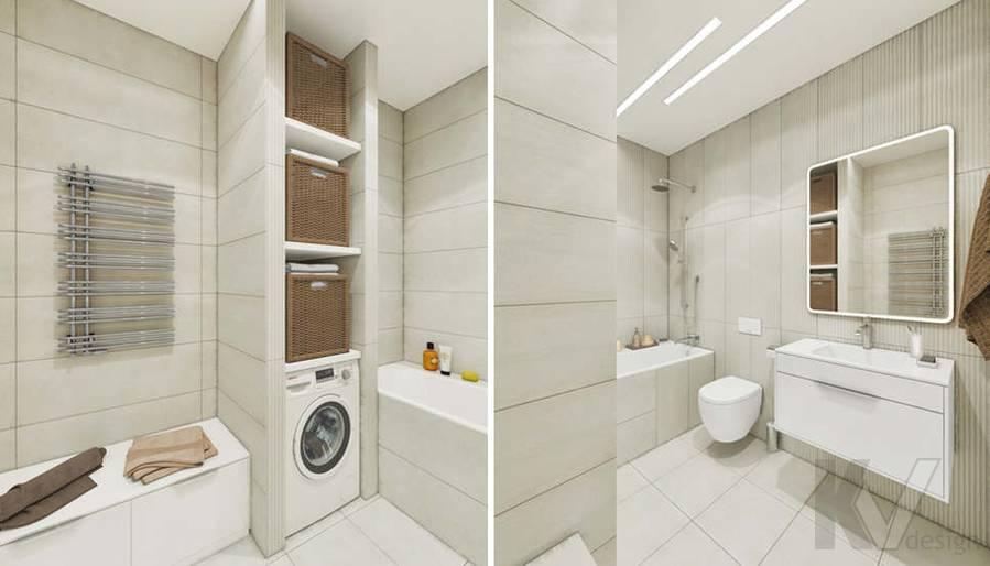 """Дизайн ванной комнаты в доме,  КП """"Южная Долина"""""""