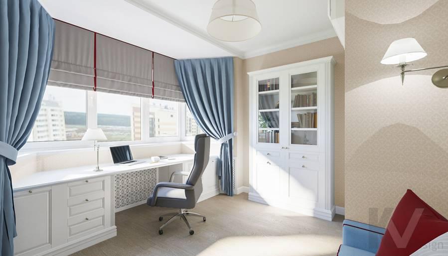 Дизайн кабинета в квартире П-44Т, Переделкино Ближнее - 2