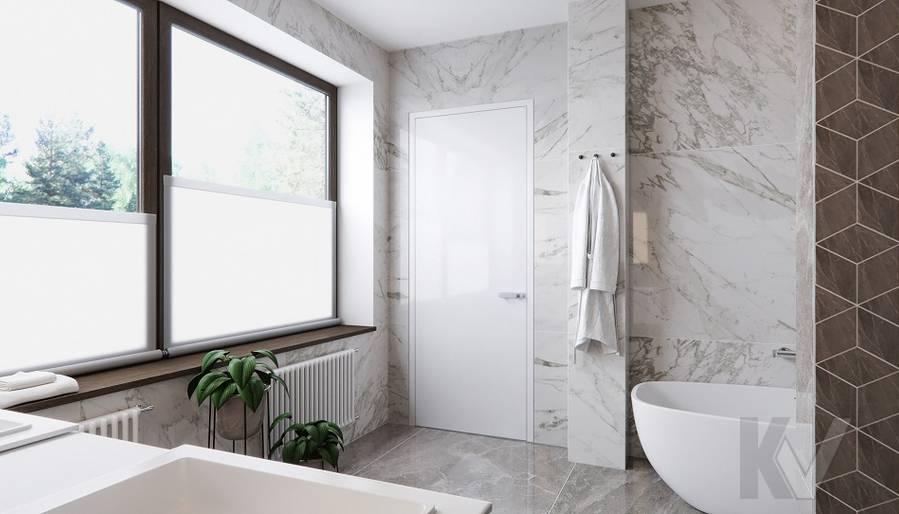 Ванная в доме в поселке Павлово - 3