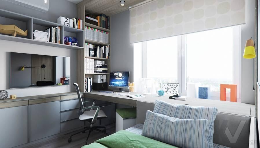 Детская комната в проекте объединения квартир, Мытищи - 5