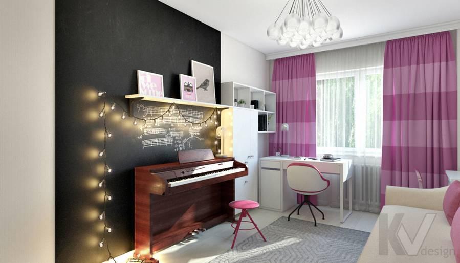 Комната девочки в 2-комнатной квартире П-111М, Тропарево - 3