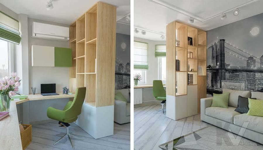 дизайн гостиной в 3-комнатной квартире, Войковская - 4
