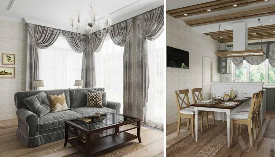 Гостиная в будущем доме в Софрино - 5