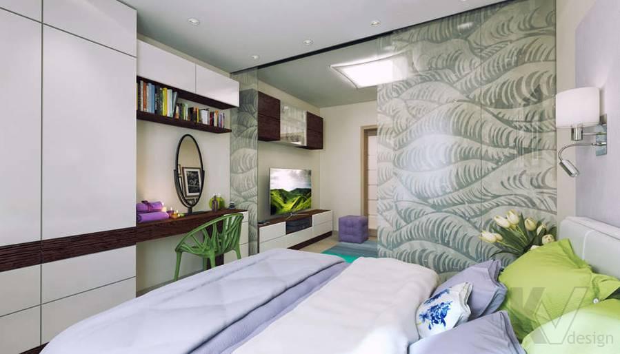 дизайн гостиной-спальни серии П-3, Новое Ясенево - 2