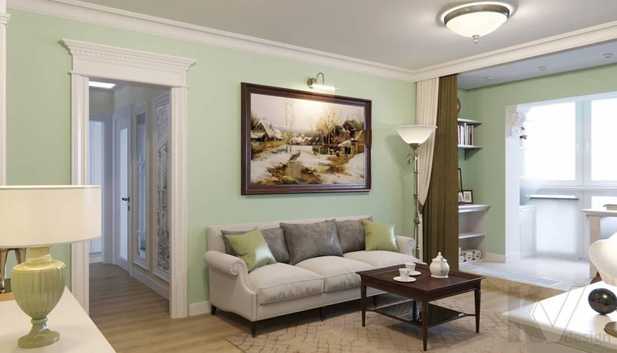 Дизайн гостиной в квартире в Крылатском - 3