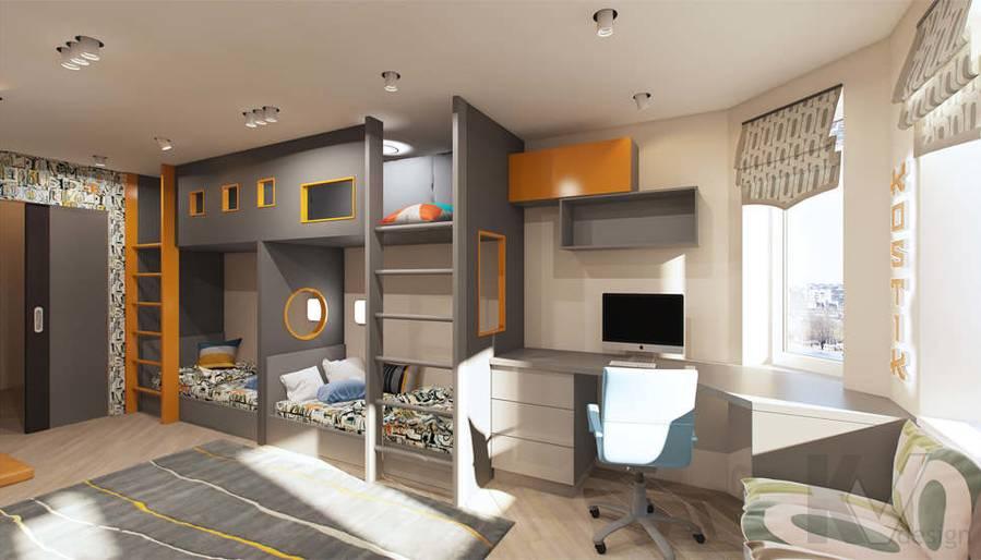 дизайн детской комнаты в квартире П-3М, Владыкино - 2