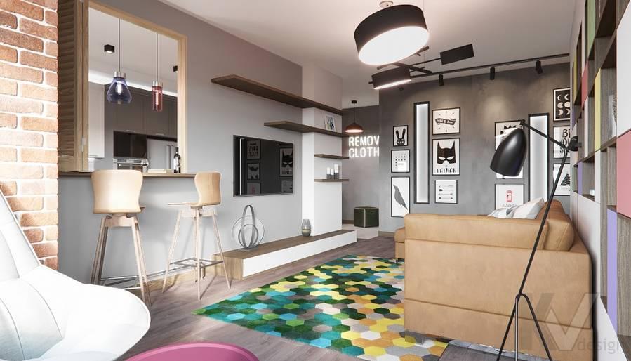 Дизайн гостиной в ЖК «На Циолковского» - 4
