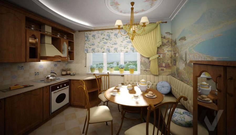 Дизайн квартиры П-3, кухня-1