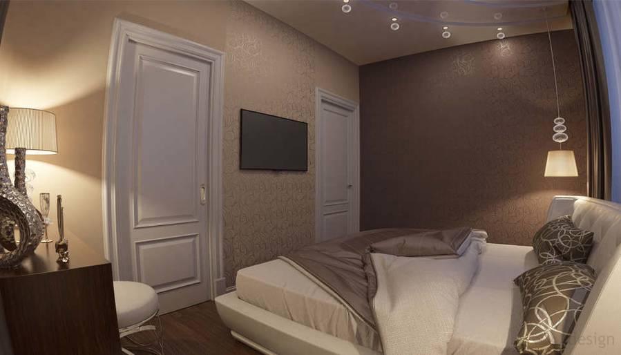 дизайн спальни в ЖК Лосиный Остров - 3