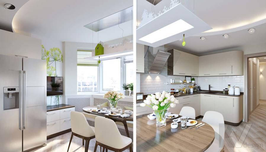 Дизайн кухни в 2-комнатной квартире, Некрасовка Парк - 5