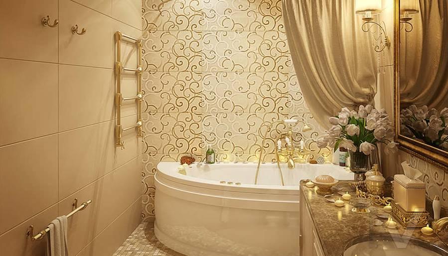 Дизайн квартиры на м. Смоленская, ванная - 5