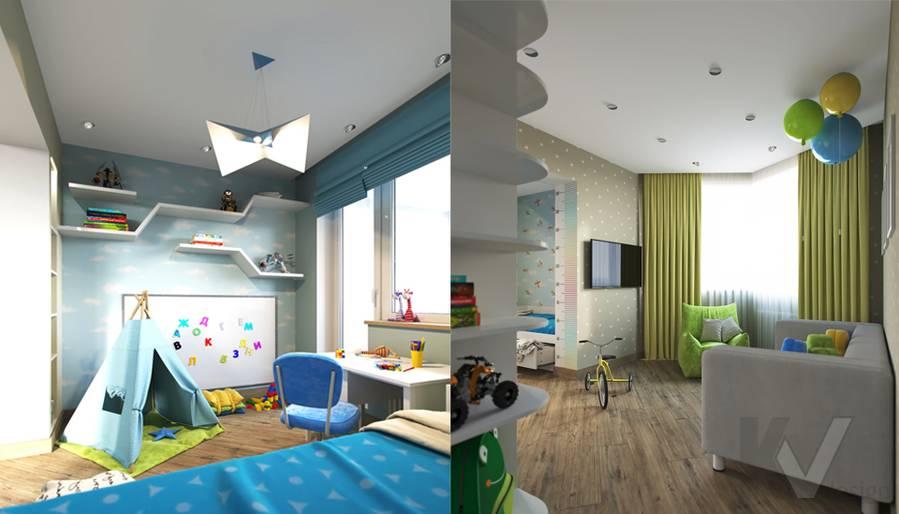 Дизайн детской в 2-комнатной квартире, Некрасовка Парк - 1