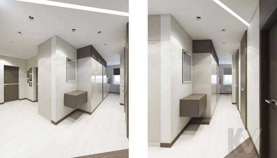 Дизайн прихожей в 3-комнатной квартире П-3М, Новое Ясенево - 1