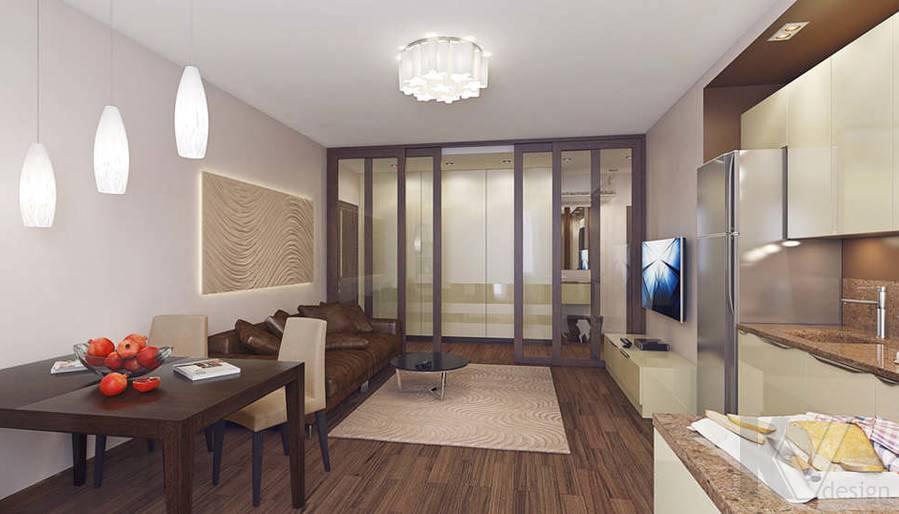 Дизайн гостиной в 2-комнатной квартире, Реутов - 3