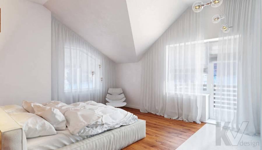 Дизайн спальни родителей в доме, КП Пестово - 2