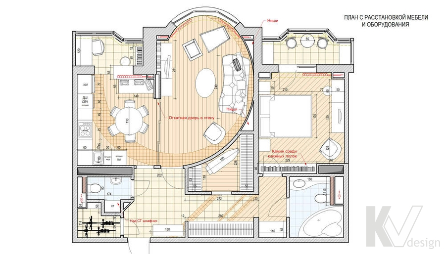 Дизайн квартиры И-155, планировка