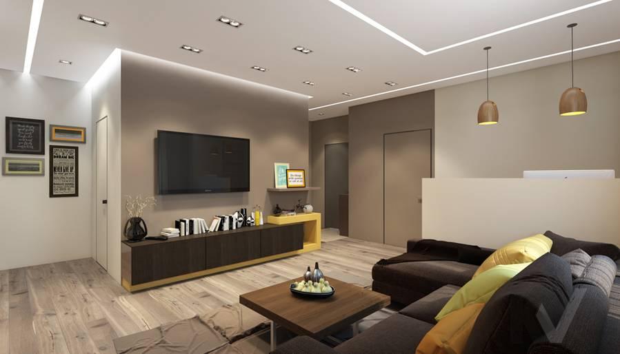 дизайн гостиной в квартире на проспекте Вернадского - 3