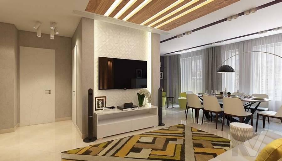 Дизайн гостиной в 2-комнатной квартире в Мытищах - 5