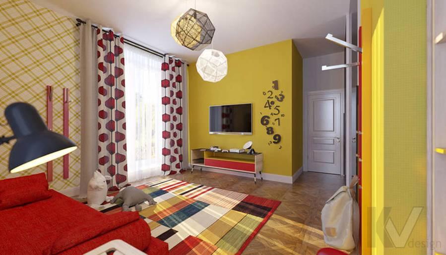 Дизайн детской комнате в доме, КП Монтевиль - 2