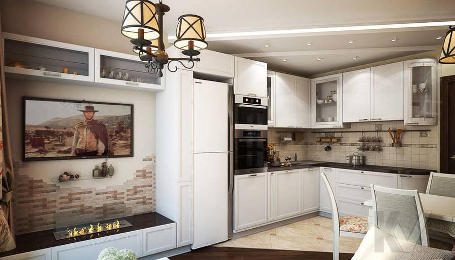 дизайн гостиной-кухни, Одинцово - 2